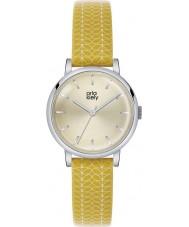 Orla Kiely OK2027 Damen patricia Stamm Druck gelb Lederband Uhr