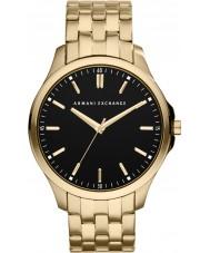 Armani Exchange AX2145 Herren schwarz vergoldet Armband Weisekleiduhr
