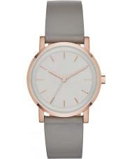 DKNY NY2341 Damen soho grau Lederband Uhr