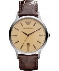 Emporio Armani AR2427 Mens klassische Bernstein braun Uhr