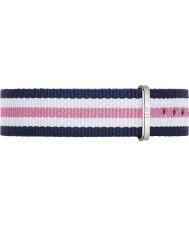 Daniel Wellington DW00200050 Damen klassische southampton 36mm silber blau weiß und rosa Nylon Ersatzband