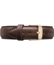 Daniel Wellington DW00200086 Dapper 19mm bristol Roségold Ersatzband