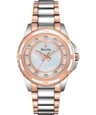 Bulova 98S134 Damen Diamant zwei Ton Stahl-Armbanduhr