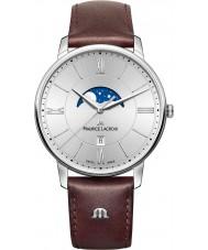 Maurice Lacroix EL1108-SS001-110-1 Mens eliros braunes Lederarmband Uhr