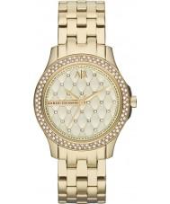 Armani Exchange AX5216 Damen vergoldet Armband Weisekleiduhr
