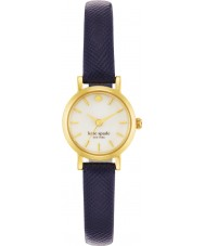 Kate Spade New York 1YRU0456 Damen winzigen U-Bahn-Marine Lederband Uhr