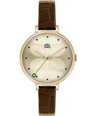 Orla Kiely OK2030 Damen Efeu braunes Lederband Uhr
