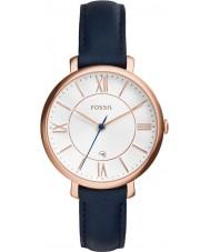 Fossil ES3843 Damen jacqueline blauen Lederband Uhr