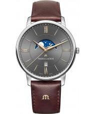 Maurice Lacroix EL1108-SS001-311-1 Mens eliros braunes Lederarmband Uhr
