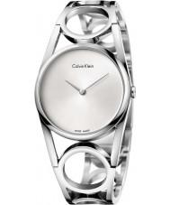 Calvin Klein K5U2M146 Damen runden silbernen Armbanduhr aus Stahl