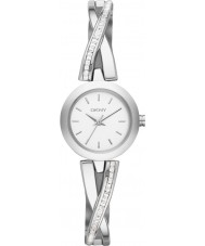 DKNY NY2173 Damen Zebrastreifen Silber Stein Set Uhr