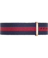 Daniel Wellington DW00200029 Damen klassischen Oxford-36mm Roségold blau und rot Nylon Ersatzband