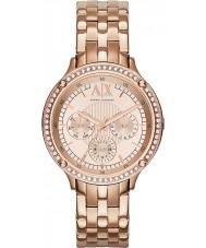 Armani Exchange AX5406 Damen rosé vergoldet Armband Weisekleiduhr
