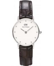 Daniel Wellington DW00100069 Damen nobel york 26mm silberne Uhr
