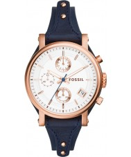 Fossil ES3838 Damen original Freund blau Chronograph