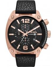 Diesel DZ4297 Mens Überlauf Chronograph schwarzes Lederband Uhr