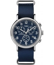 Timex TW2P71300 Weekender Rutsch durch blau Chronouhr