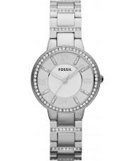 Fossil ES3282 Damen Virginia Silber Stahl-Uhr