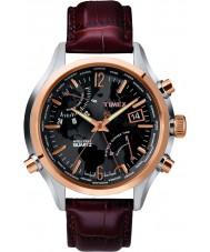 Timex T2N942 Mens schwarz braun Weltzeituhr