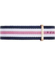 Daniel Wellington DW00200034 Damen klassische southampton 36mm Roségold, weiß, blau und rosa Nylon Ersatzband