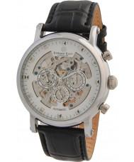 Edward East EDW5342G5 Mens klassische schwarze Lederband Automatik-Uhr