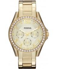 Fossil ES3203 Damen riley Gold Stahl-Armbanduhr