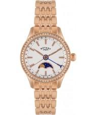 Rotary LB02854-01 Damen Uhren beaumont Mondphase stieg goldene Uhr