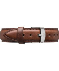 Daniel Wellington DW00200052 Damen klassisch st mawes 36mm Silber braunem Leder Ersatzarmband