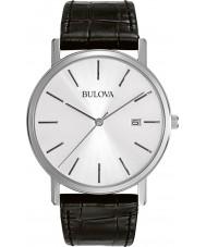Bulova 96B104 Mens Kleid schwarzes Lederband Uhr