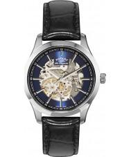 Rotary GS90525-05 Mens les originales Stahl schwarz Automatik-Uhr