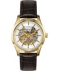 Rotary GS90526-06 Mens les originales automatische Skelett gold braun Uhr