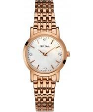 Bulova 97S106 Damen Diamant Roségold vergoldet Armband-Uhr
