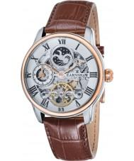 Thomas Earnshaw ES-8006-03 Mens Länge braunes Lederband Uhr