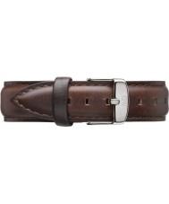 Daniel Wellington DW00200056 Damen klassische bristol 36mm Silber braunem Leder Ersatzarmband
