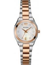 Bulova 98S143 Damen Diamant-Galerie zwei Ton Stahl-Armbanduhr
