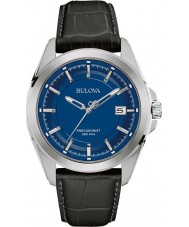 Bulova 96B257 Mens Precisionist schwarzes Lederband Uhr