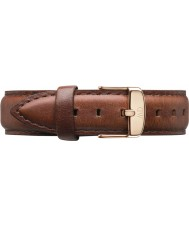 Daniel Wellington DW00200035 Damen klassische st mawes 36mm Roségold braunem Leder Ersatzarmband