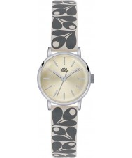 Orla Kiely OK2043 Damen patricia Creme Eichel Drucklederband Uhr