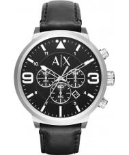 Armani Exchange AX1371 Herren städtischen schwarzen Lederarmband Chronograph