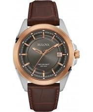 Bulova 98B267 Mens Precisionist braunem Leder Uhr