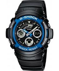 Casio AW-591-2AER Mens g-shock schwarz Chronograph Sportuhr