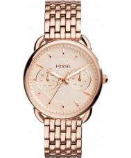 Fossil ES3713 Damen Schneider Rotgold Stahl Armbanduhr