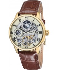 Thomas Earnshaw ES-8006-06 Mens Länge braun Krokolederband Uhr