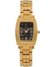 Krug-Baumen 1965DLG Tuxedo Gold 4 Diamant-schwarzes Zifferblatt Gold Band