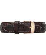 Daniel Wellington DW00200038 Damen klassisch york 36mm Roségold dunkelbraunem Leder Ersatzarmband