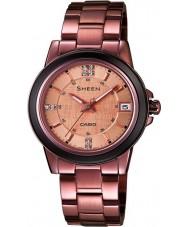 Casio SHE-4512BR-9AUER Damen sheen Bronze Uhr mit Swarovski Elementen