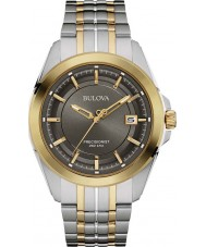 Bulova 98B273 Mens Precisionist Ton zwei Stahl-Armbanduhr
