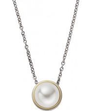 Skagen SKJ0880998 Damen Agnethe Silber Stahl Halskette mit Perle Edelstein