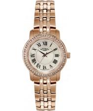 Rotary LB02597-41 Damen Uhren Kristall Lünette Roségold vergoldet Uhr