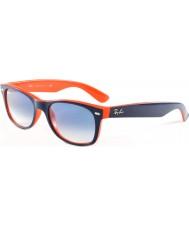 RayBan RB2132 52 neue Wayfarer Top-blau-orange 789-3f Sonnenbrille